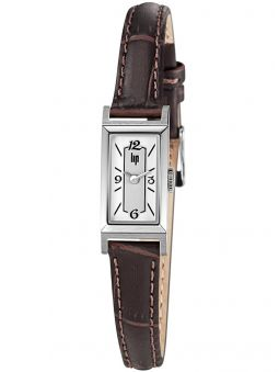 Montre LIP CHURCHILL acier cuir marron