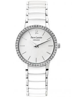 Montre femme Pierre Lannier bracelet céramique blanche