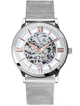 Montre homme Pierre Lannier automatique bracelet milanais acier