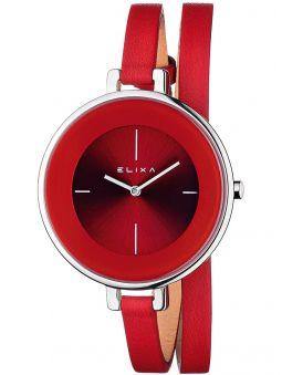 Montre femme Elixa rouge bracelet double