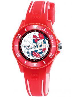 Montre enfant AM:PM Disney Minnie bracelet silicone rouge
