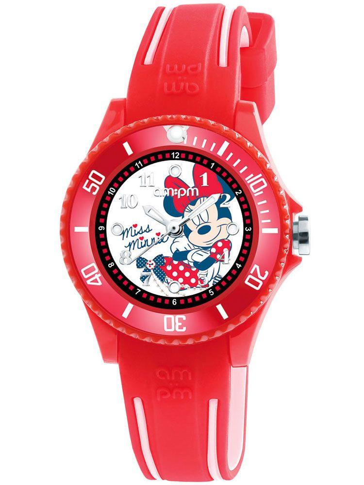 sale separation shoes best price Montre enfant AM:PM Disney Minnie bracelet silicone rouge