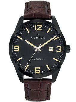 Montre homme Certus acier étanche bracelet marron