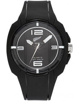 Montre homme All Blacks avec bracelet silicone noir