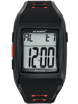 Montre homme All Blacks digitale noire et rouge