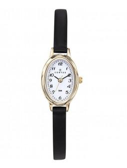 Montre Certus femme bracelet fin en cuir noir