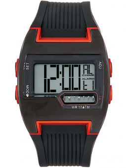 Montre homme All Blacks digitale noire et orange