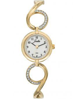 Montre femme Certus Joalia dorée avec bracelet empierré