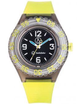 Montre Q&Q solaire bracelet jaune