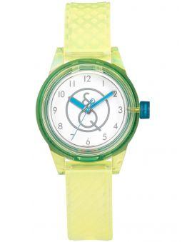 Montre enfant Q&Q solaire bracelet jaune