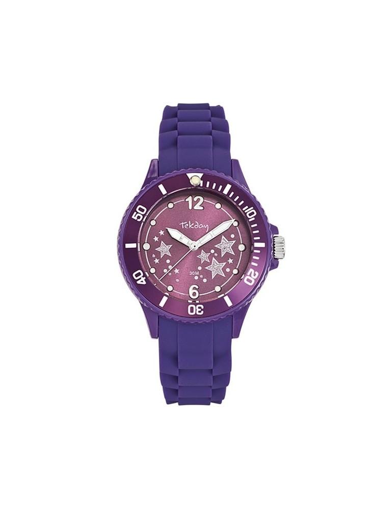 Montre violette étoilée Tekday