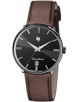 Montre LIP DAUPHINE bracelet cuir marron