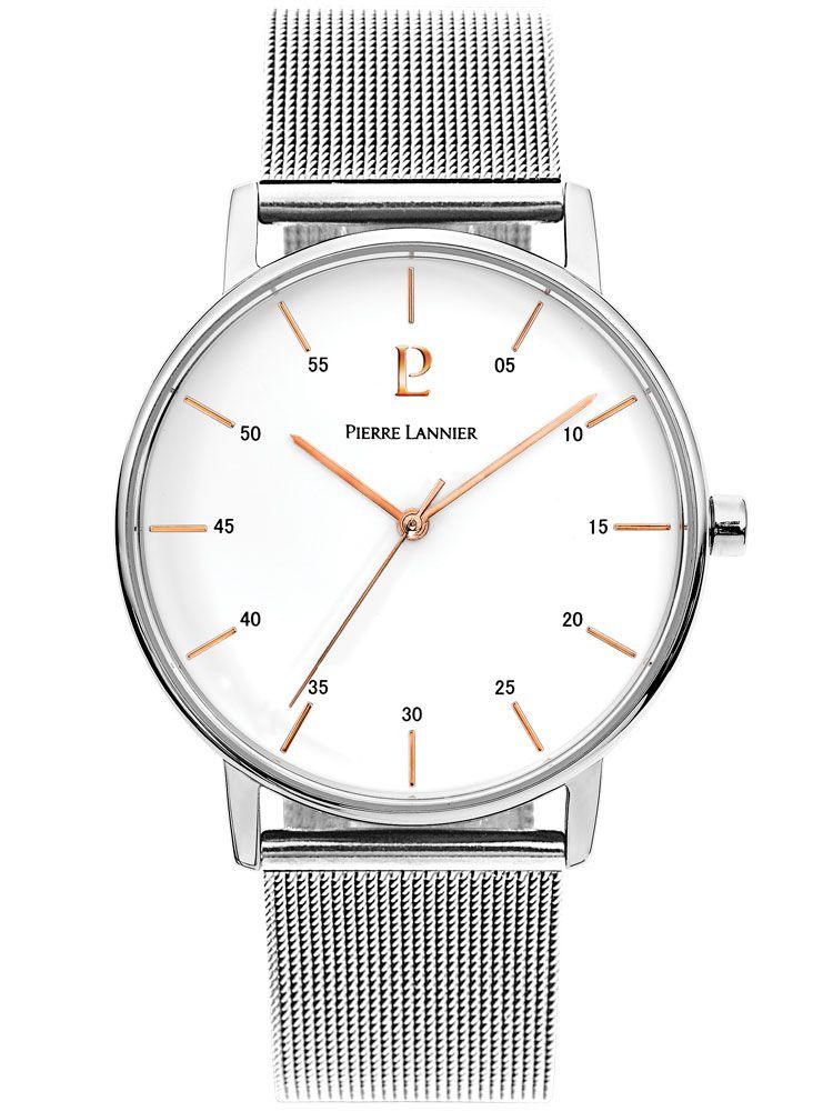 Montre homme Pierre Lannier acier bracelet maille milanaise