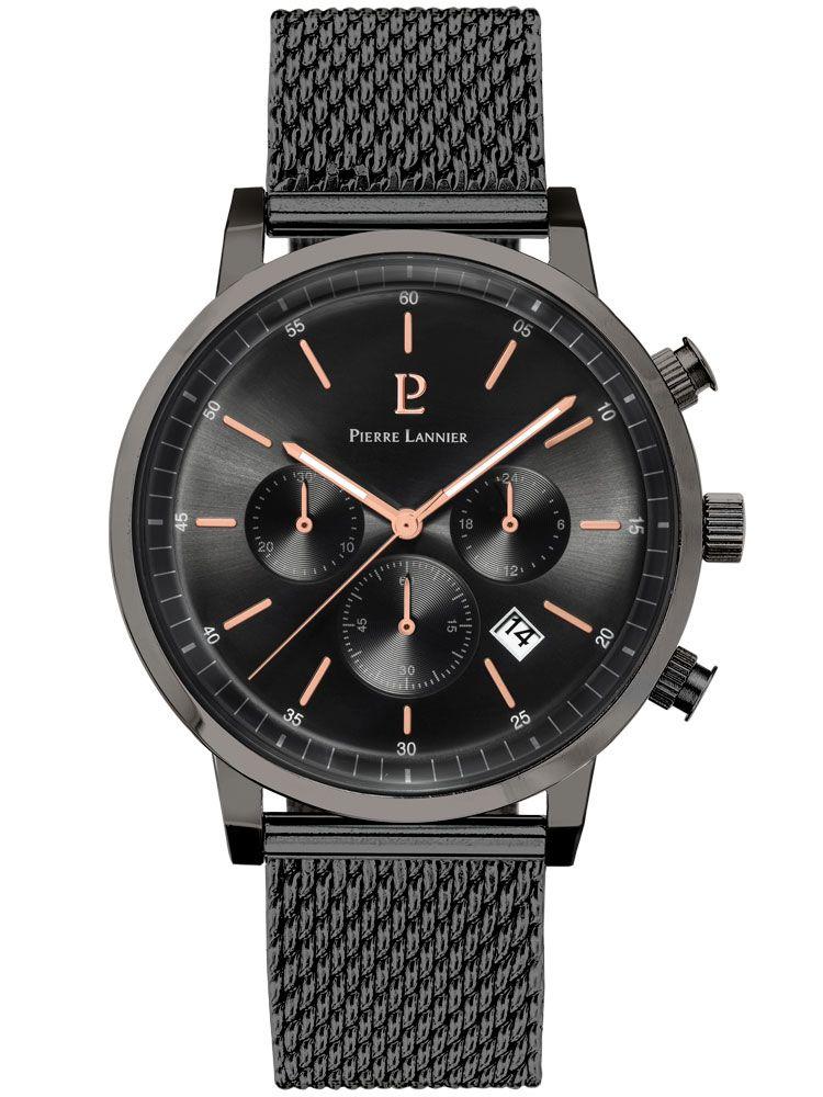 Montre homme Pierre Lannier chrono acier gris 4aef0833c91