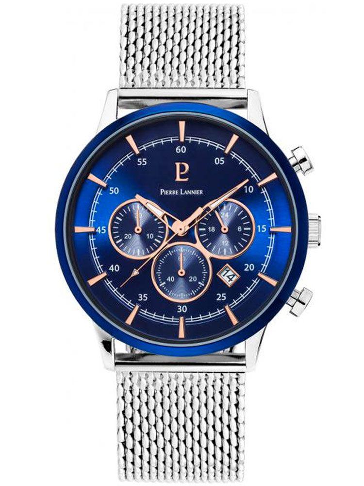 Montre homme Pierre Lannier chrono bracelet acier d23d28e56f6