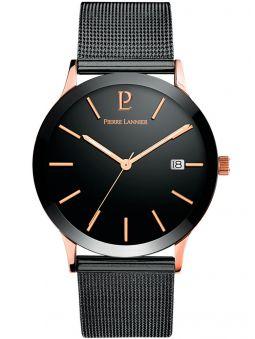 Montre homme Pierre Lannier acier noir bracelet noir
