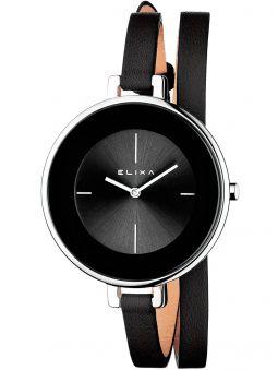 Montre femme Elixa noire bracelet double