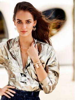 Montre femme Elixa design cuir rose bracelet double