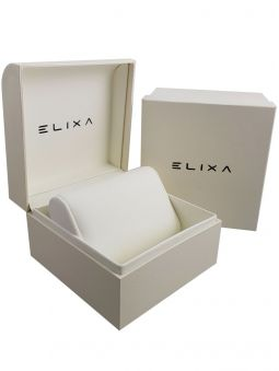 Montre femme Elixa tout acier fond blanc