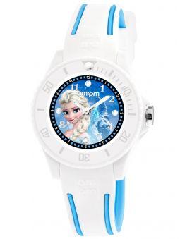 Montre enfant AM:PM Disney Reine des neiges bleue et blanche