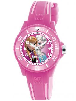 Montre enfant AM:PM Disney Reine des neiges rose