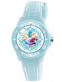 Montre enfant AM:PM Disney Reine des neiges bracelet bleu ciel