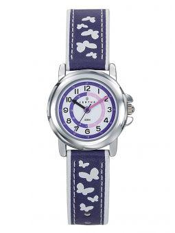 Montre enfant Certus violette bracelet papillons