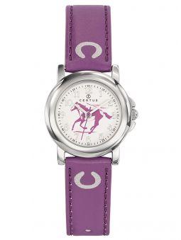 Montre enfant Certus violette cheval