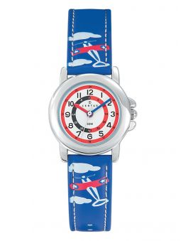 Montre enfant Certus bleue avion
