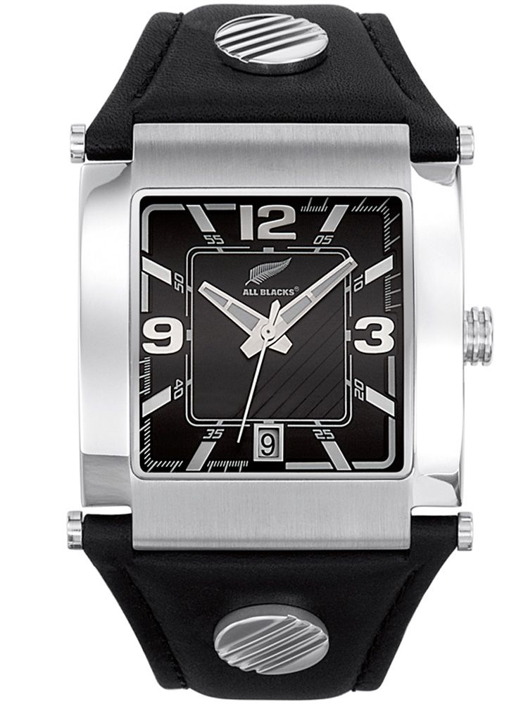Montre homme All Blacks bracelet cuir