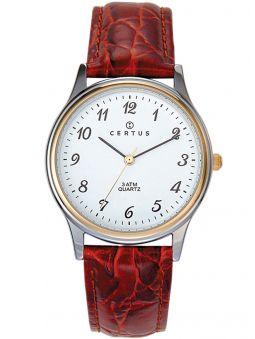 Montre homme Certus bicolore bracelet brun