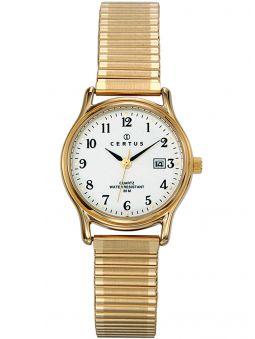 Montre femme Certus bracelet extensible doré