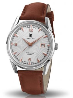 Montre homme LIP HIMALAYA automatique marron verre saphir