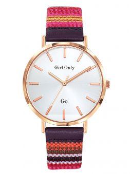 Montre femme Go bracelet tissu multicolore