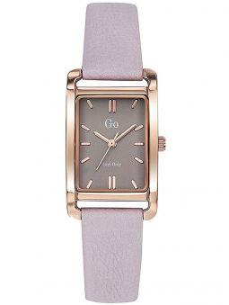 Montre femme Go bracelet cuir rose boite rectangulaire