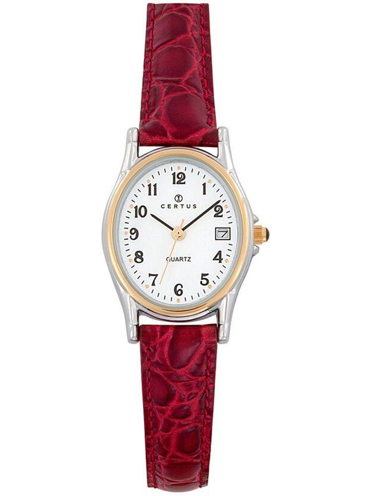 Montre Certus femme bracelet cuir rouge