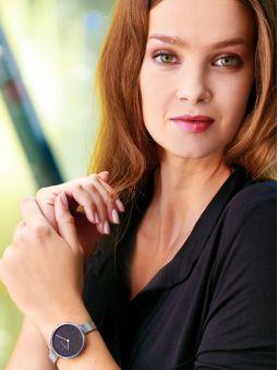 Montre femme Elixa bracelet milanais en acier