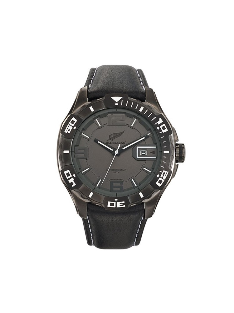 Montre homme All Blacks en cuir
