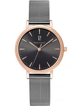 Montre femme Pierre Lannier acier PVD noir bracelet milanais