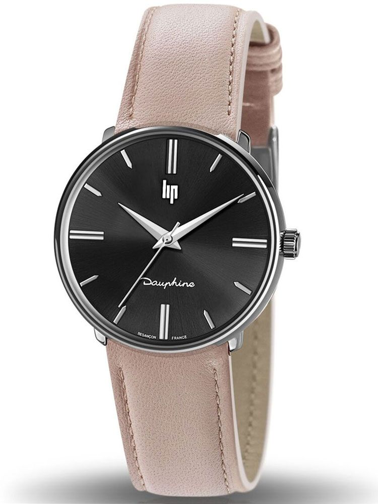 Montre LIP DAUPHINE cuir marron