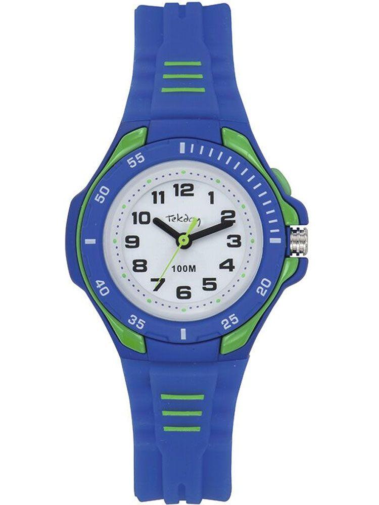 Montre enfant Tekday bleue et verte
