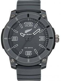 Montre homme All Blacks sport bracelet silicone grise