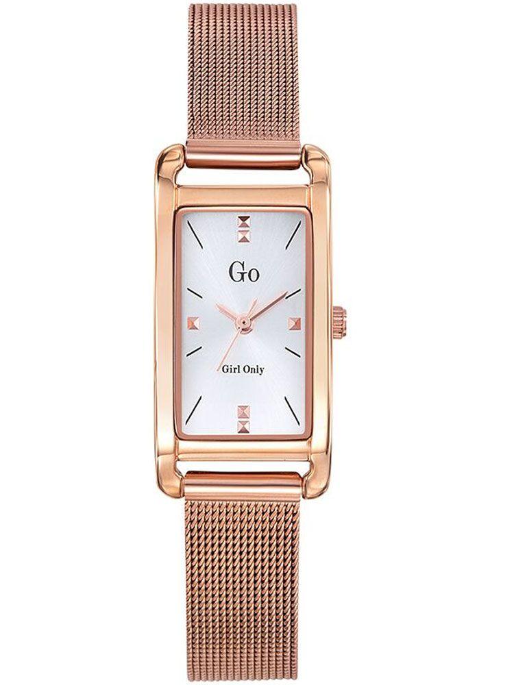 Montre femme Go dorée rose bracelet doré rose