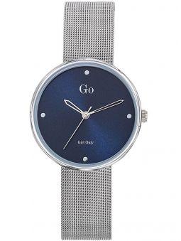 Montre femme Go Girl Only bracelet milanais fond bleu