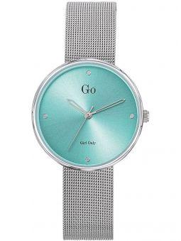 Montre femme Go Girl Only bracelet milanais fond vert