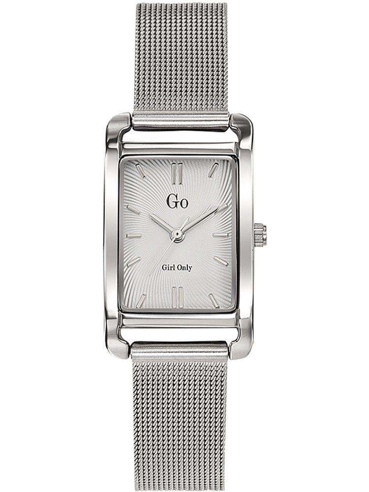 Montre femme Go rectangulaire bracelet milanais