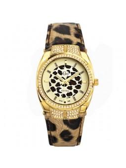 Montre femme Go motif leopard