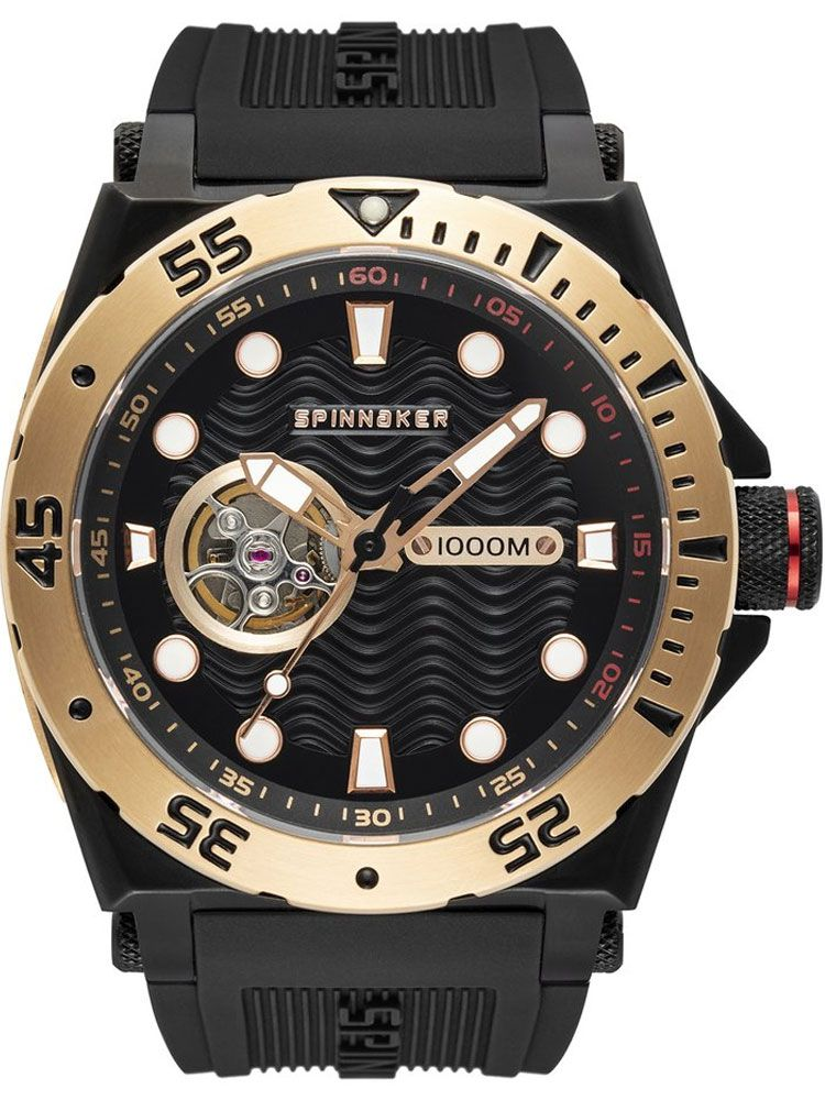 Montre homme SPINNAKER OVERBOARD automatique bracelet silicone