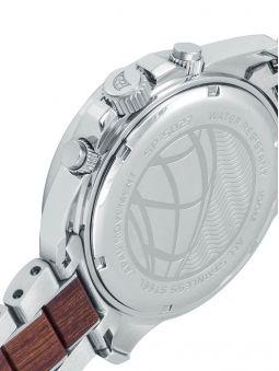 Montre homme SPINNAKER VESSEL bracelet acier et bois