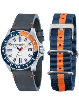 Montre homme SPINNAKER Spence automatique bleue et orange